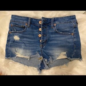 American Eagle high rise button up shorts